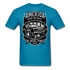 Car Power runs on diesel | Men's T-Shirt-Men's T-Shirt-get2shirts