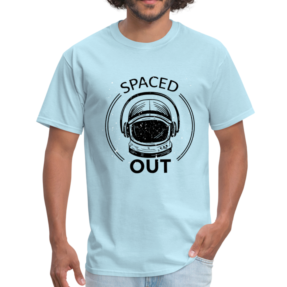 Astronaut Heln Spaced Out Men Black White Regular Shirt S-6XL-Men's T-Shirt-get2shirts