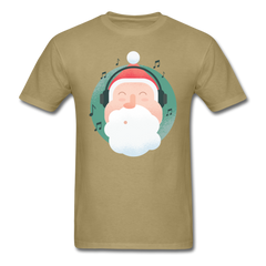 Santa Headphones Music | Men's T-Shirt-Men's T-Shirt-get2shirts