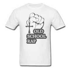 Old School Rap Music - Jesus Cross | Men's T-Shirt-Men's T-Shirt-get2shirts