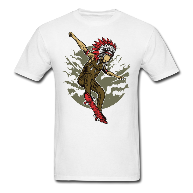 Indian Chief Skateboard | Men's T-Shirt-Men's T-Shirt-get2shirts