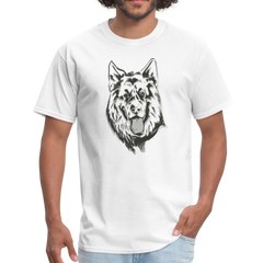 German shepherd dog | Men's T-Shirt-Men's T-Shirt-get2shirts