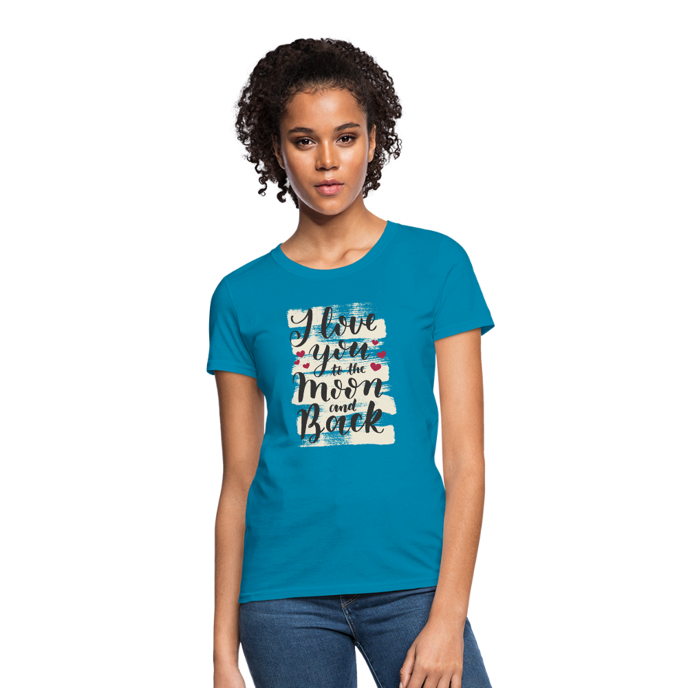 T-Shirt | I love you to the moon & back-Women's T-Shirt-get2shirts