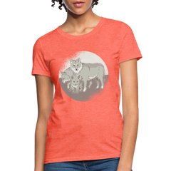T-Shirt | Wolf family-Women's T-Shirt-get2shirts
