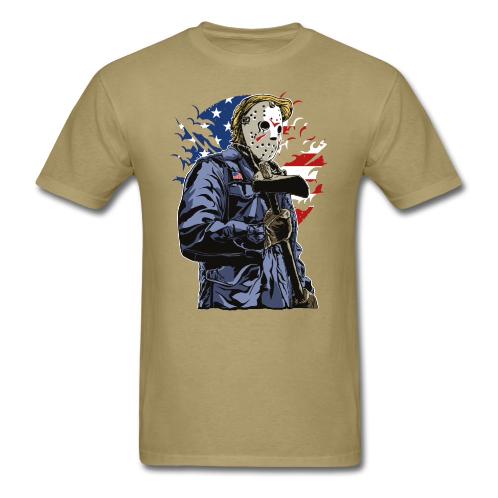 Halloween american killer with ax and mask | Men's T-Shirt-Men's T-Shirt-get2shirts