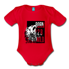 Bodysuit | Born to be wild-Organic Short Sleeve Baby Bodysuit-get2shirts