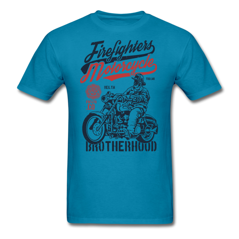 Brotherhood - Firefighter Motorcycle | Men's T-Shirt-Men's T-Shirt-get2shirts