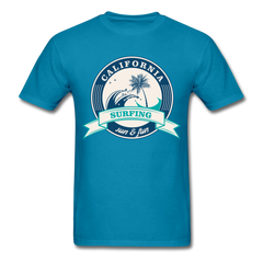 California Surfing - Sun & Fun | Men's T-Shirt-Men's T-Shirt-get2shirts