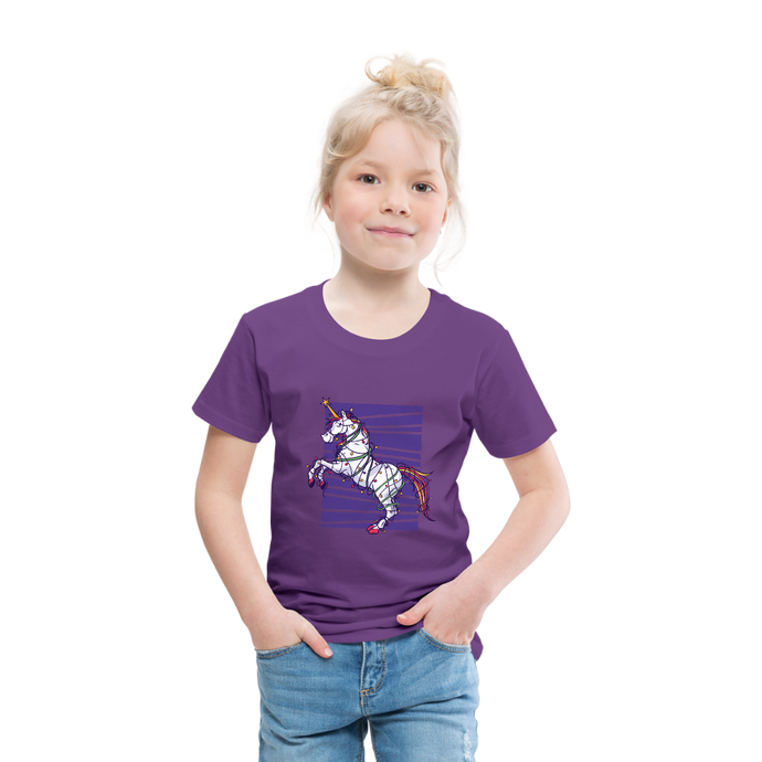UNICORN XMAS TREE  | Toddler Premium T-Shirt - purple