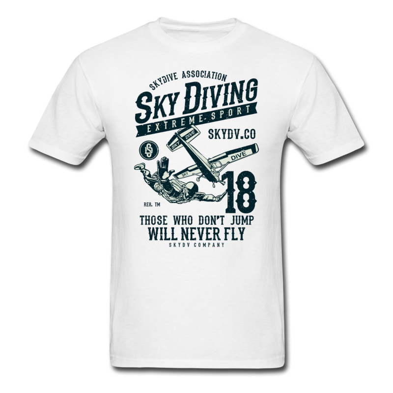 Sky Diving | Men's T-Shirt-Men's T-Shirt-get2shirts