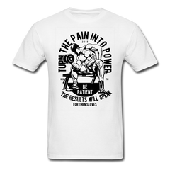 Dumbbell Workout - Turn The Pain Into Power | Men's T-Shirt-Men's T-Shirt-get2shirts