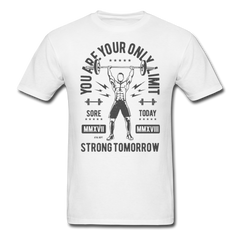 Dumbbell Workout - You Are Your Only Limit | Men's T-Shirt-Men's T-Shirt-get2shirts