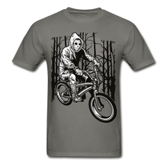 BMX Biking Slasher | Gildan Men's T-Shirt - charcoal