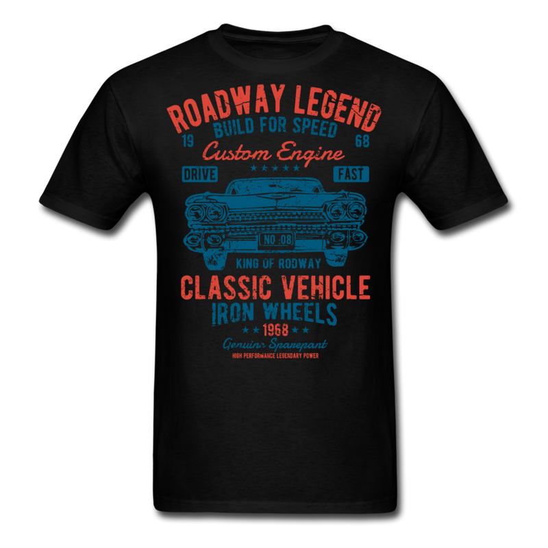 Cadillac Classic Car Roadway Legend | Men's T-Shirt-Men's T-Shirt-get2shirts