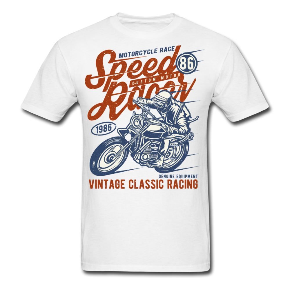 Motorcycle Race - Speed Racer - Vintage Classic Bike Racing | Men's T-Shirt - white