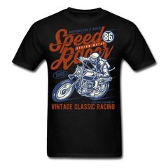 Motorcycle Race - Speed Racer - Vintage Classic Bike Racing | Men's T-Shirt - black