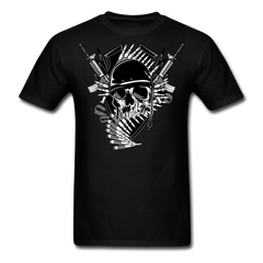 Skull Military Mix - Guns & Bullet | Men's T-Shirt - black