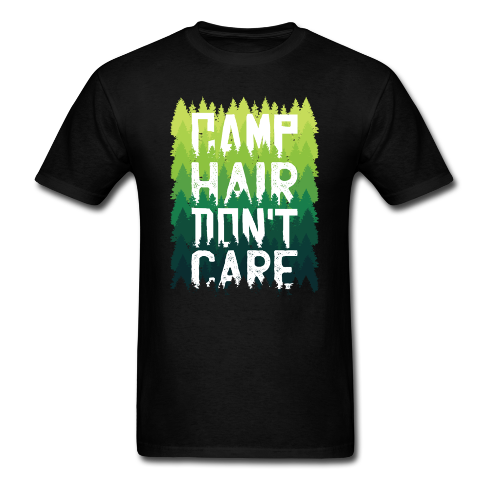 Camping Adventure - Camp Hair Don't Care | Men's T-Shirt-Men's T-Shirt-get2shirts