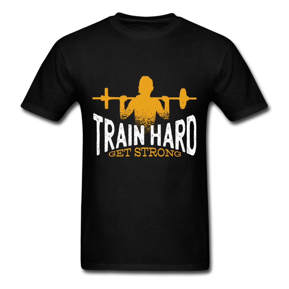 Gym - Train Hard Get Strong | Men's T-Shirt-Men's T-Shirt-get2shirts