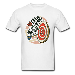 Bow And Arrow - Shoot Bow Calmly Focused | Men's T-Shirt - white