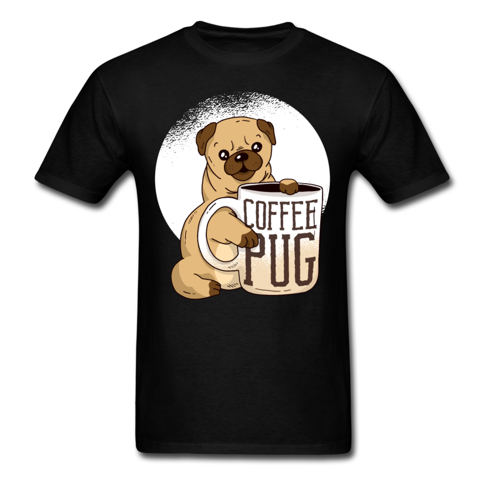 Coffee Pug | Men's T-Shirt - black