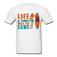 Surfing - Life Is Better When You Surf | Men's T-Shirt-Men's T-Shirt-get2shirts