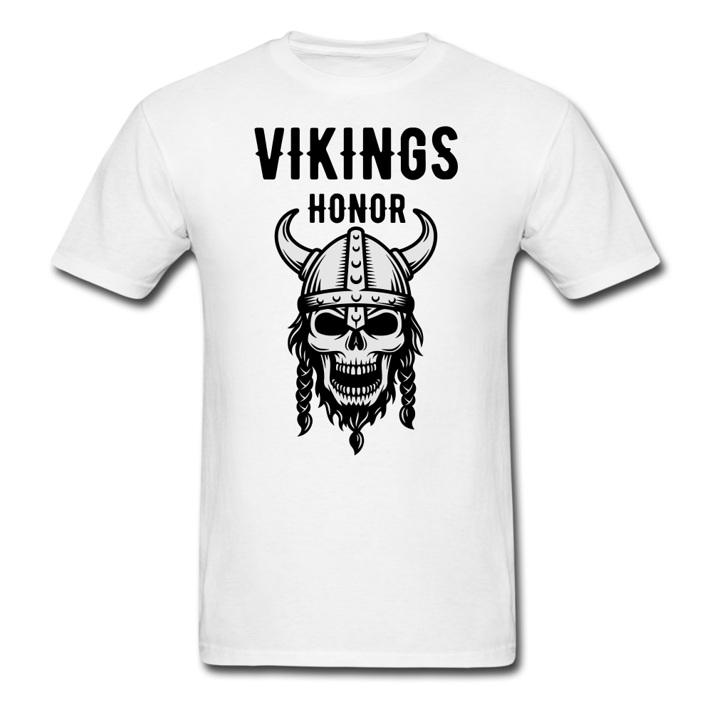 Skull Vikings Honor | Men's T-Shirt-Men's T-Shirt-get2shirts