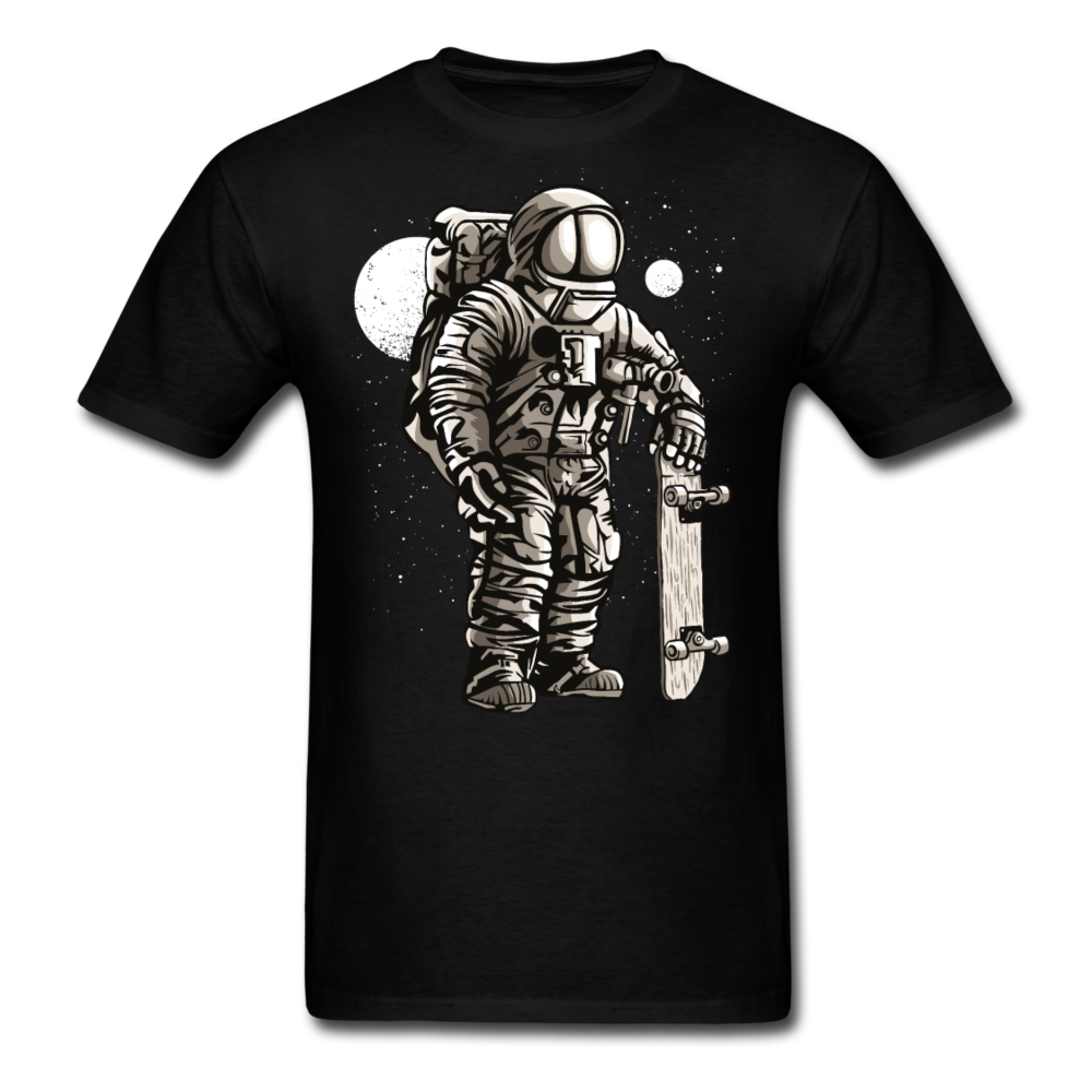 Astronaut Skater Men Black White Regular Shirt S-6XL-Men's T-Shirt-get2shirts