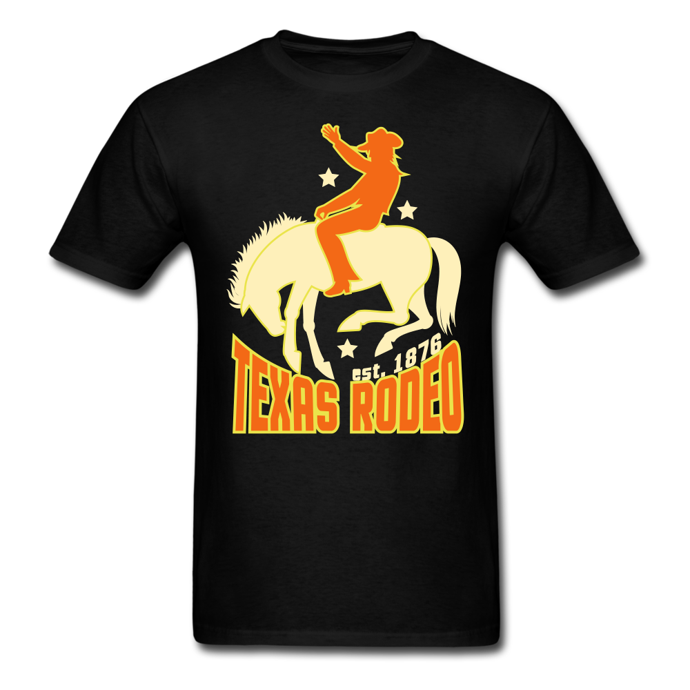 Texas Rodeo - Cowboy And Horses | Men's T-Shirt-Men's T-Shirt-get2shirts
