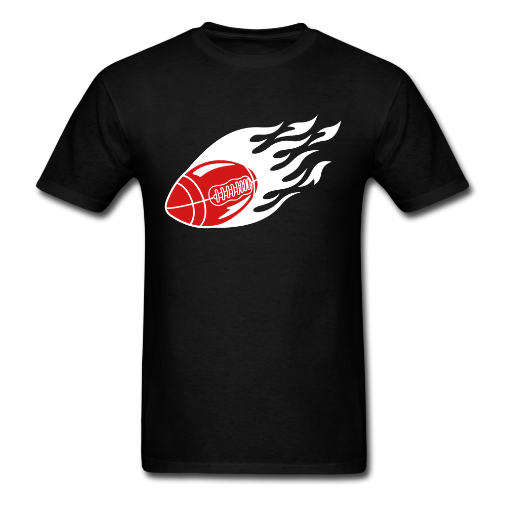 Football Fireball | Men's T-Shirt - black