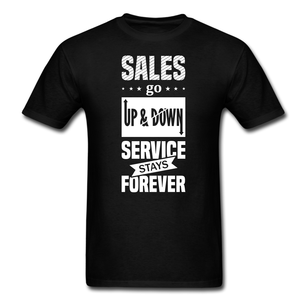 Saying - Sales & Service | Men's T-Shirt - black