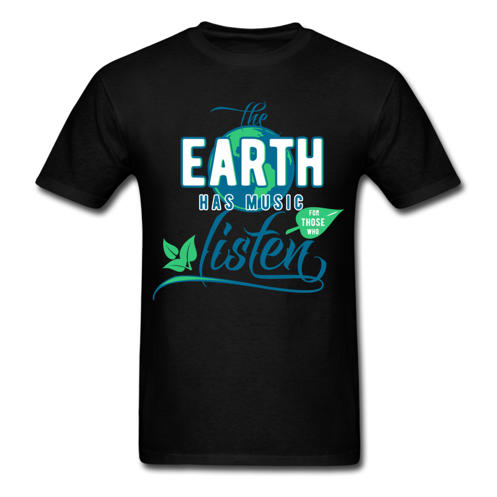Saying - Earth Has Music Listen | Men's T-Shirt-Men's T-Shirt-get2shirts