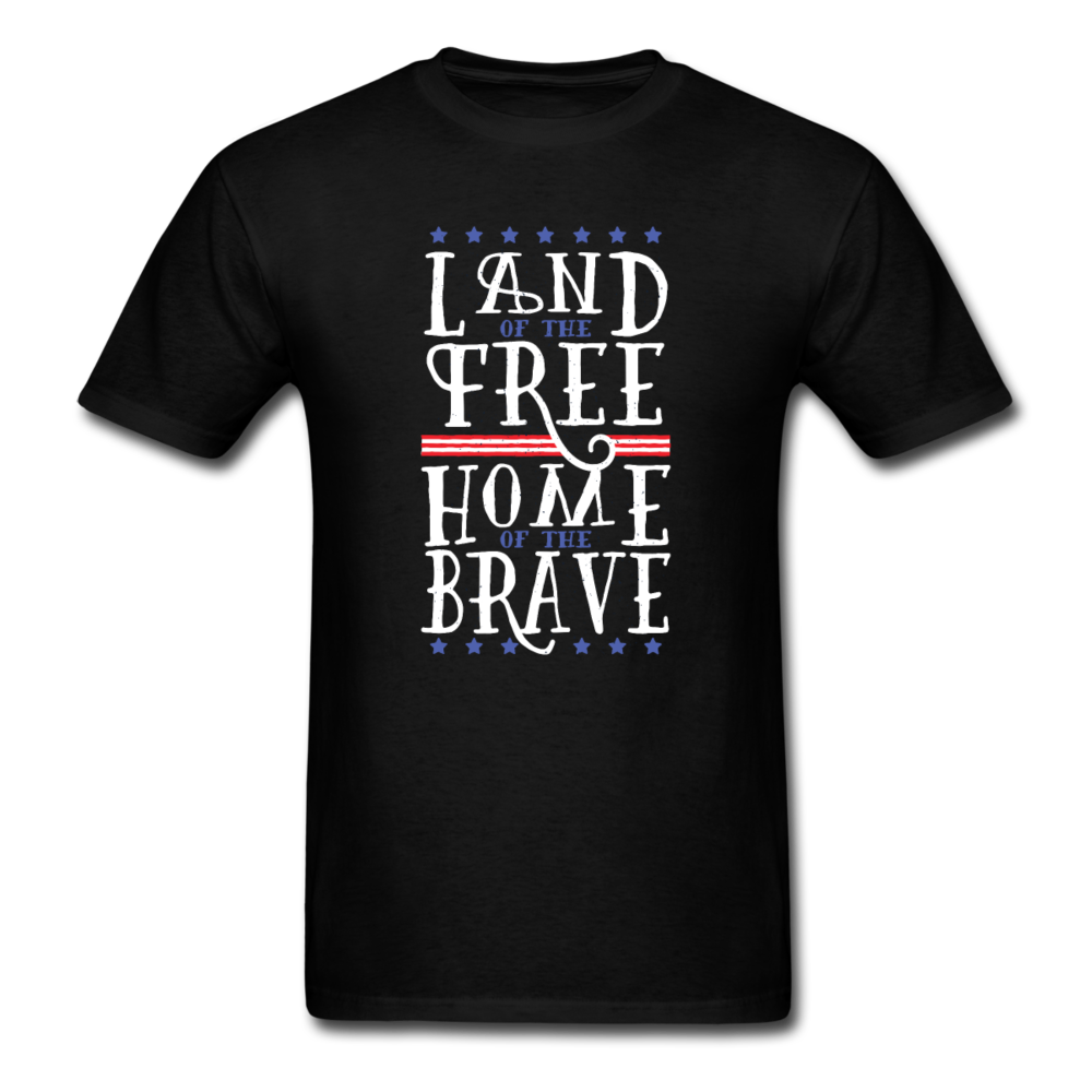 Saying - USA Land Of The Free Home Of The Brave | Men's T-Shirt-Men's T-Shirt-get2shirts