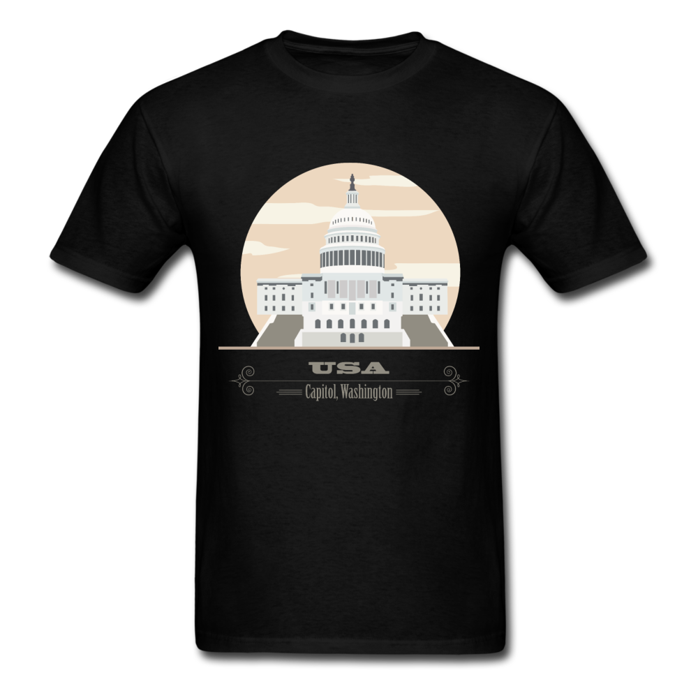 USA Capitol Washington | Men's T-Shirt-Men's T-Shirt-get2shirts