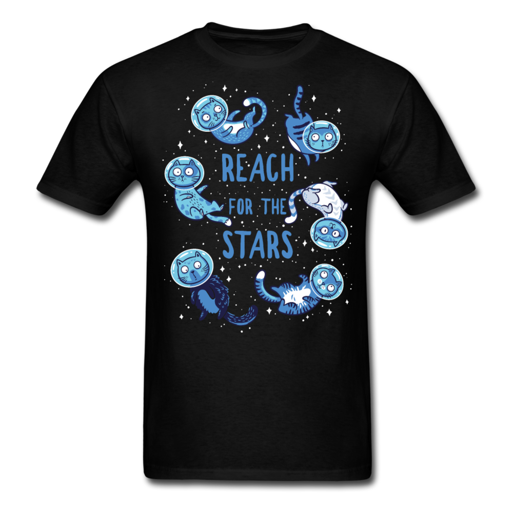 Cats in Space - Space Cat - Reach For The Stars | Men's T-Shirt-Men's T-Shirt-get2shirts