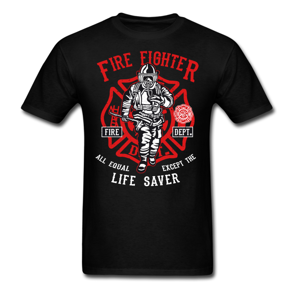 Fire Fighter - Life Saver | Men's T-Shirt-Men's T-Shirt-get2shirts