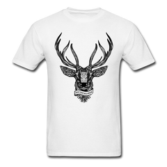 DEER Antler Shirt Hunting Hunter Tee-Men's T-Shirt-get2shirts
