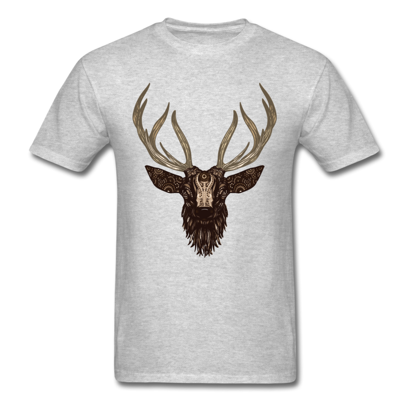 Deer Antler Shirt Funny Hunter Hunting Tee-Men's T-Shirt-get2shirts