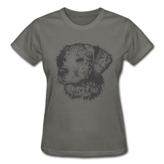 Cute Pup Baby Dog Funny Women Gildan Shirt-Gildan Ultra Cotton Ladies T-Shirt-get2shirts