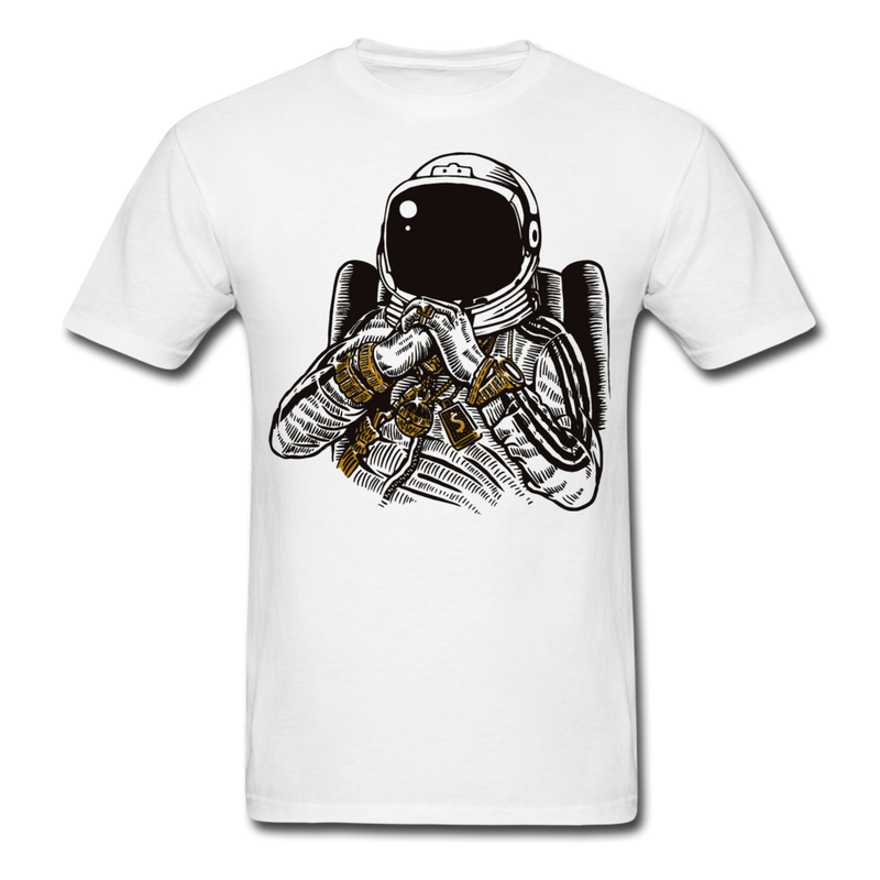 Space Gangster Mobster Gangsta Funny Tee Men's T-Shirt-Men's T-Shirt-get2shirts