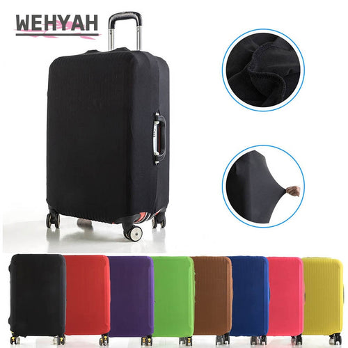 Wehyah Elestic Travel Luggage Cover Suitcase Covers Travel Accessories Women Dust Cover 18''-24'' Protective Case Solid ZY132