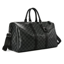 Load image into Gallery viewer, Man Travelling Luggage Traveling Duffel Bag Super Capacity Business Men Travel Bags Tourism Black Lattice Handbag Poker Pattern