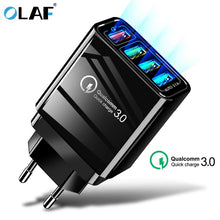 Load image into Gallery viewer, 48W Quick Charger 3.0 USB Charger for Samsung A50 A30 iPhone 7 8 Huawei P20 Tablet QC 3.0 Fast Wall Charger US EU UK Plug Adapte