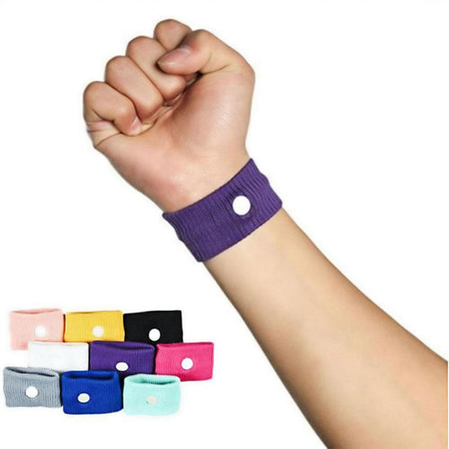 1Pc Fabric Elastic Anti Nausea Wristbands Reusable Wrist Band Sickness Travel Sea Car Anti Sickness Motion