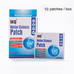 MQ Motion Sickness Patch Relieve Carsickness Airsickness Seasickness Anti-nausea  Fast Non Drowsy Long Effect Travel Partner