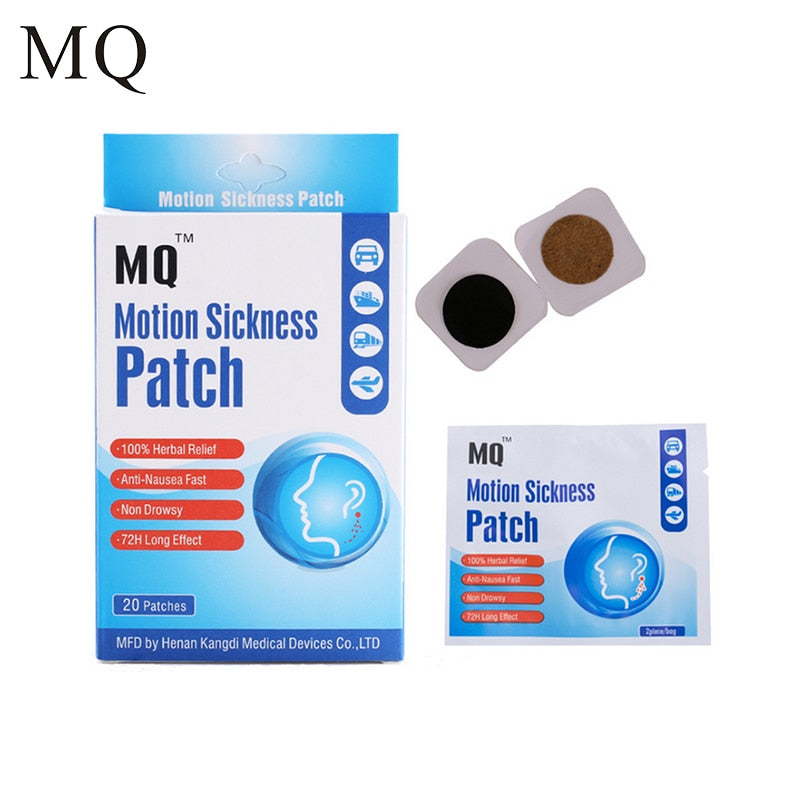 100Pcs=5 Boxes Motion Sickness Patch Behind Ear For Children/Adults Car Anti Patch For Travel Nausea and Vomiting Health Car