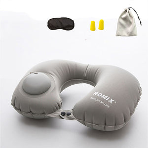 Inflatable pillow 4pc/s set Travel cervical pillow U-type automatic inflatable pillow Folding Portable Travel accessories