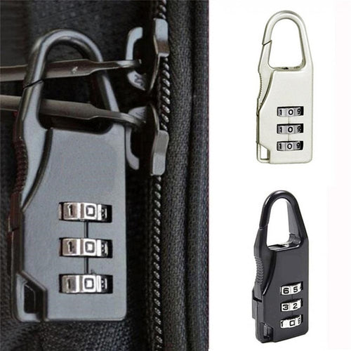 High Quality Small Chic Padlock Practical Suitcase Luggage Security Password Lock 3 Digit Combination Travel Accessories