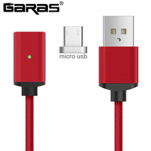Load image into Gallery viewer, GARAS Magnetic Cable For iphone/Micro USB/Type C Charger Adapter Plug For Iphone Magnet Fast Charging Mobile Phone Cables 2m