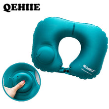 Load image into Gallery viewer, Inflatable pillow 4pc/s set Travel cervical pillow U-type automatic inflatable pillow Folding Portable Travel accessories